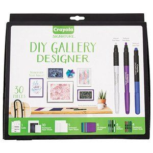 Signature Crayola DIY Gallery Designer 30 Pieces